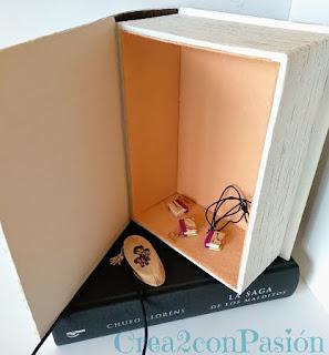 Caja-libro-cartonaje-y-decoupage-interior-caja-forrada-de-fieltro-Crea2-con-pasión