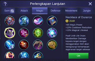 Necklace of Durance Mobile Legends Bang Bang