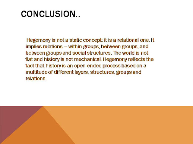 Conclusion on Hegemony