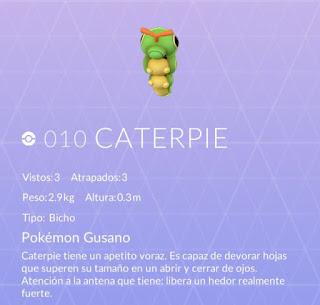 caterpie pokemon go