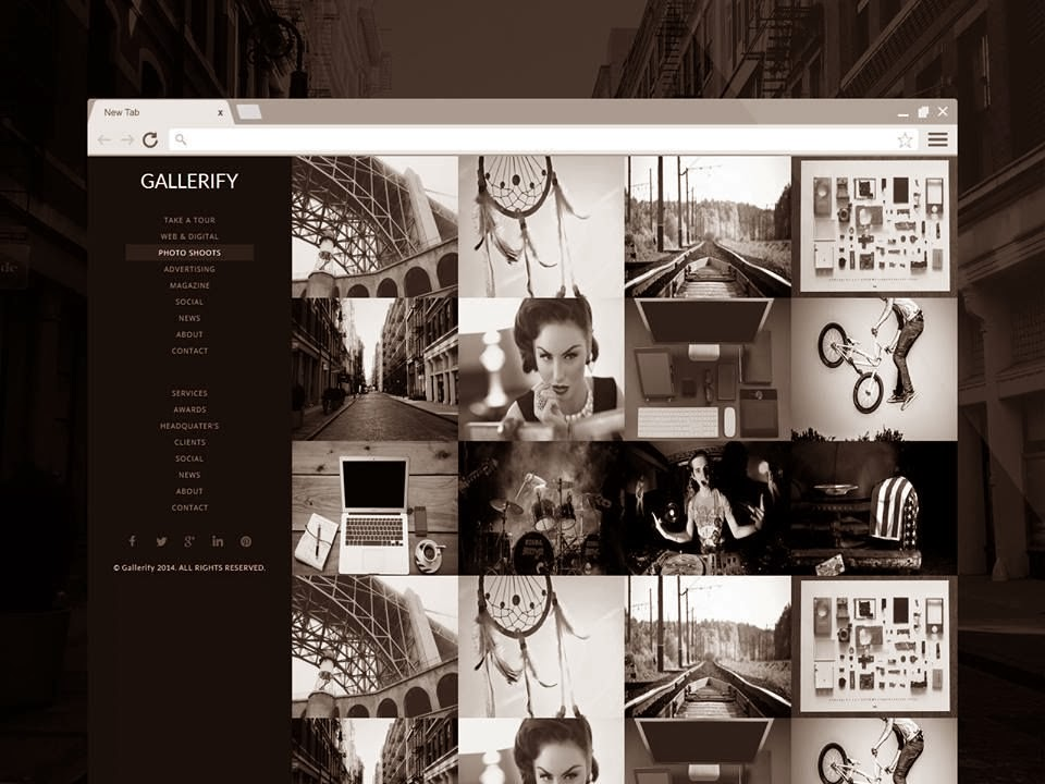 Gallerify Responsive Gallery Blogger Template
