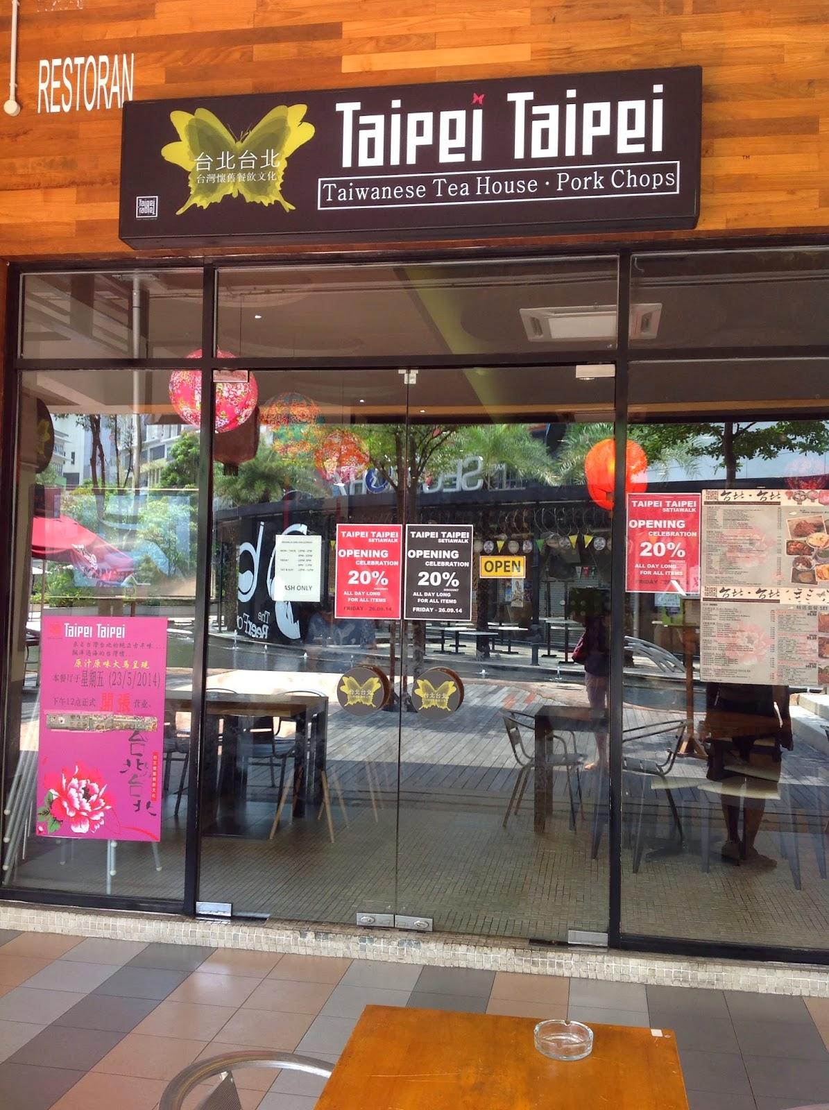 Taipei Taipei Taiwan Restaurant Setiawalk Puchong Secret