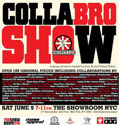 Collabo show flier