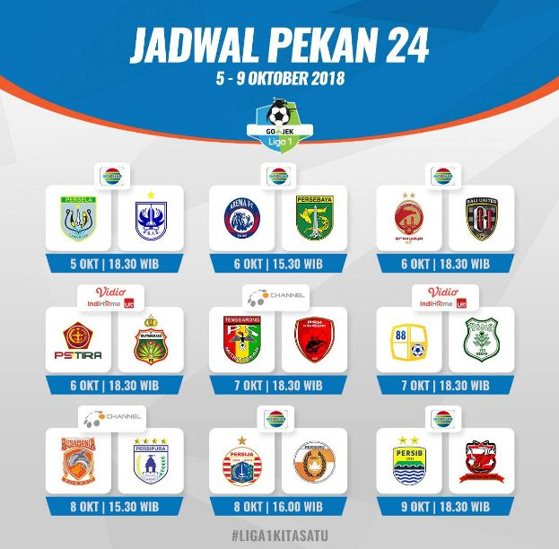 Jadwal Liga 1 Pekan 24