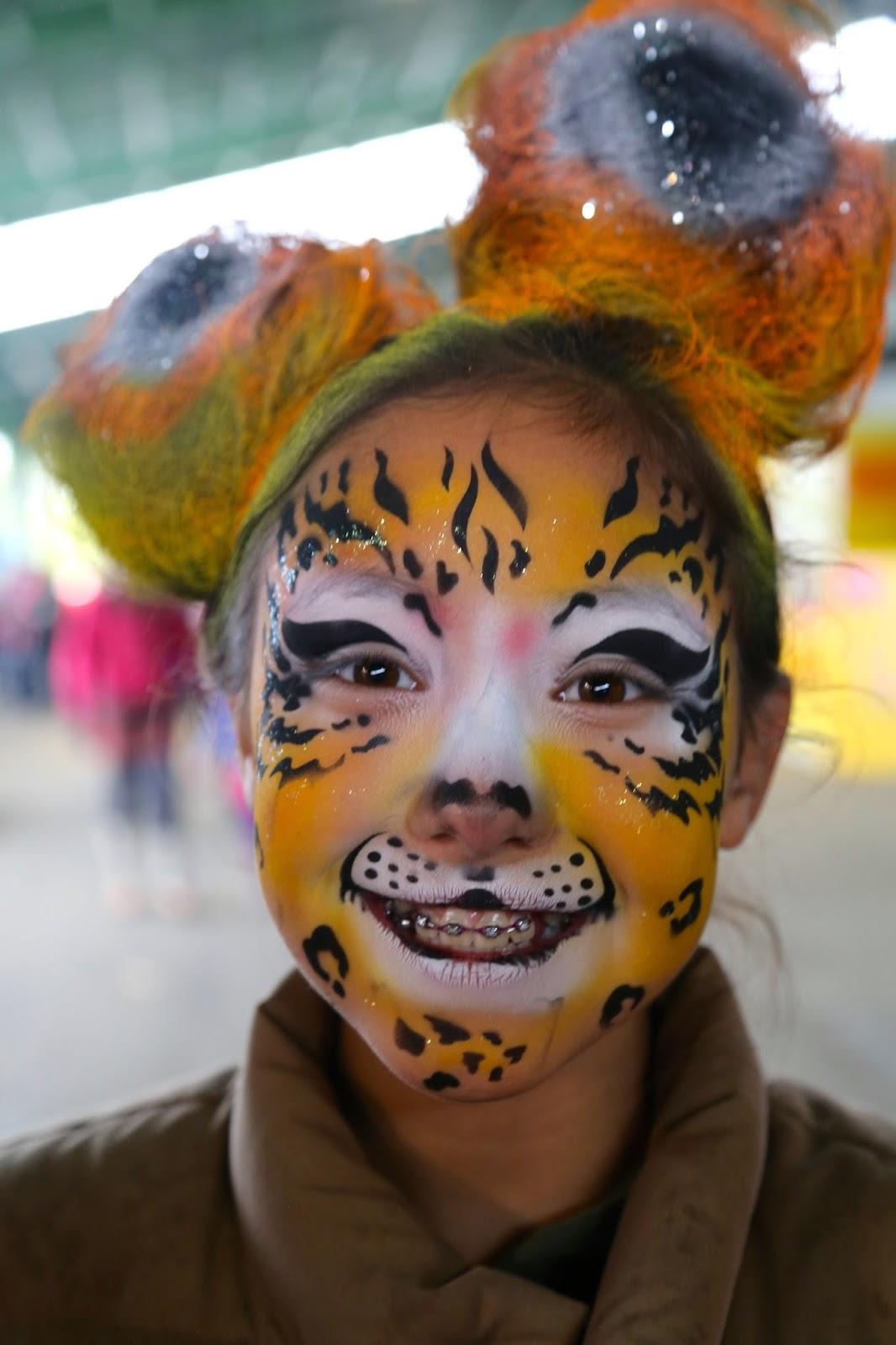 Wild hair and face painting, Alaska State Fair