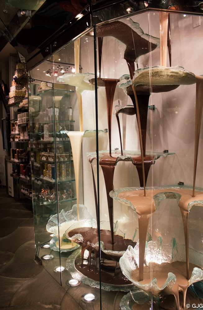 Bellagio Hotel Chocolate Fountain The Las Vegas Strip travel diary