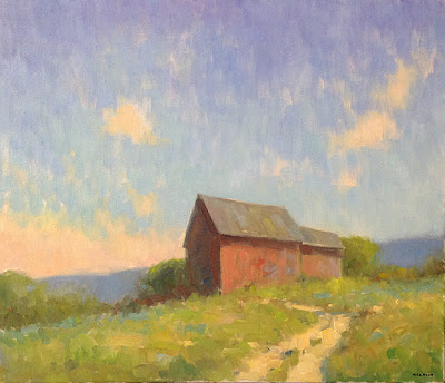 New England Barn  20 x 24 inches | oil on canvas  Steve Allrich
