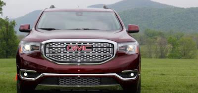 Upcoming 2017 Acadia Denali SUV front view
