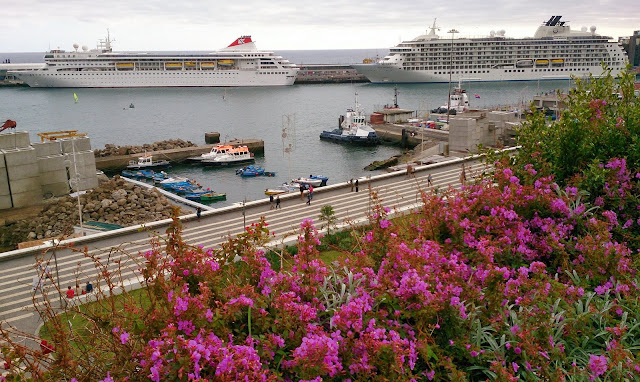 the first 2 of 12 cruise ships that will be tomorrow in Funchal to see the firework