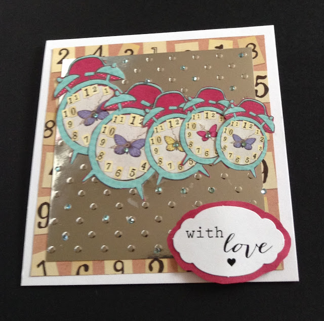 Time passing - with love clocks 6in card
