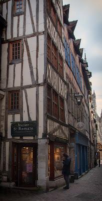 maison à colombages rouen medieval