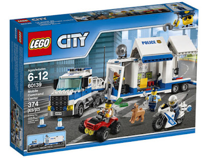 JUGUETES - LEGO City  60139 Centro de control móvil : Policía  Producto 2017 | Piezas: 374 | Edad: 6-12 años  Comprar en Amazon España