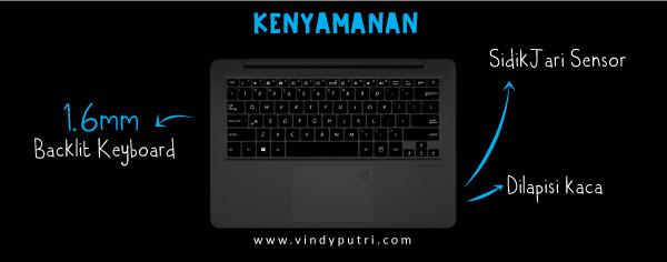 Kenyamanan ASUS Zenbook UX410UQ