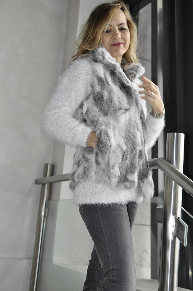 Fur vest chaleco de pelo