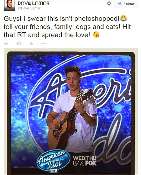 Ex Contestant of The Voice of the Philippines Season 1 Dave Jonathan Lamar Auditioned in American Idol