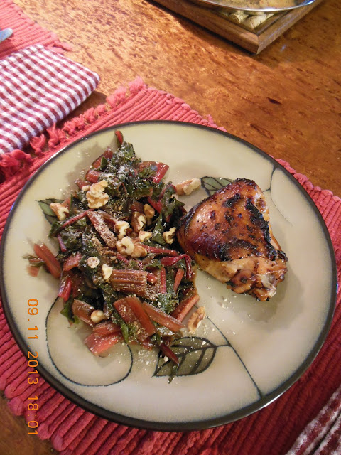 Braised Swiss Chard with Onions Balsamic Vinegar and Parmesan