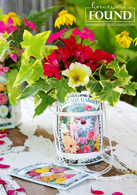 tutorial, crafts, junk, junk makeovers, garden crafts, repurposed, upcycled, diy, diy crafts, May Day, flowers, nosegays, use what you have decor. home decor, spring