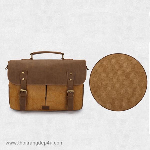 Túi đeo chéo nam vải bố năng động VF195