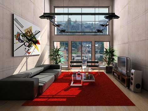 java propertindo: desain ruang keluarga rumah minimalis
