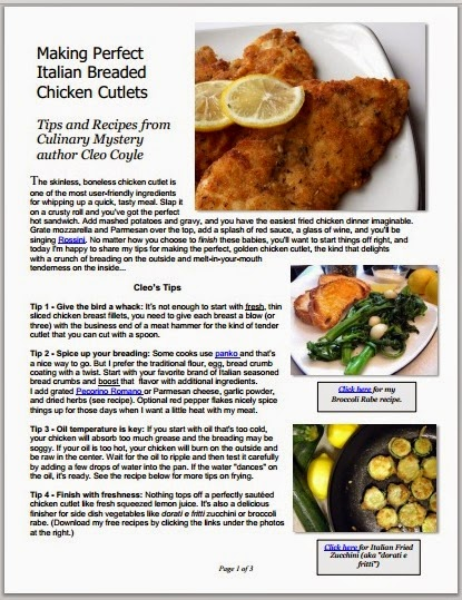 Cleo coyle recipes 5 tips for making italian breaded chicken italian breaded chicken cutlets pdf cover cleo coyleg forumfinder Image collections