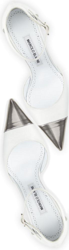 Manolo Blahnik Trova Cap-Toe Leather 105mm Ankle-Wrap Pump