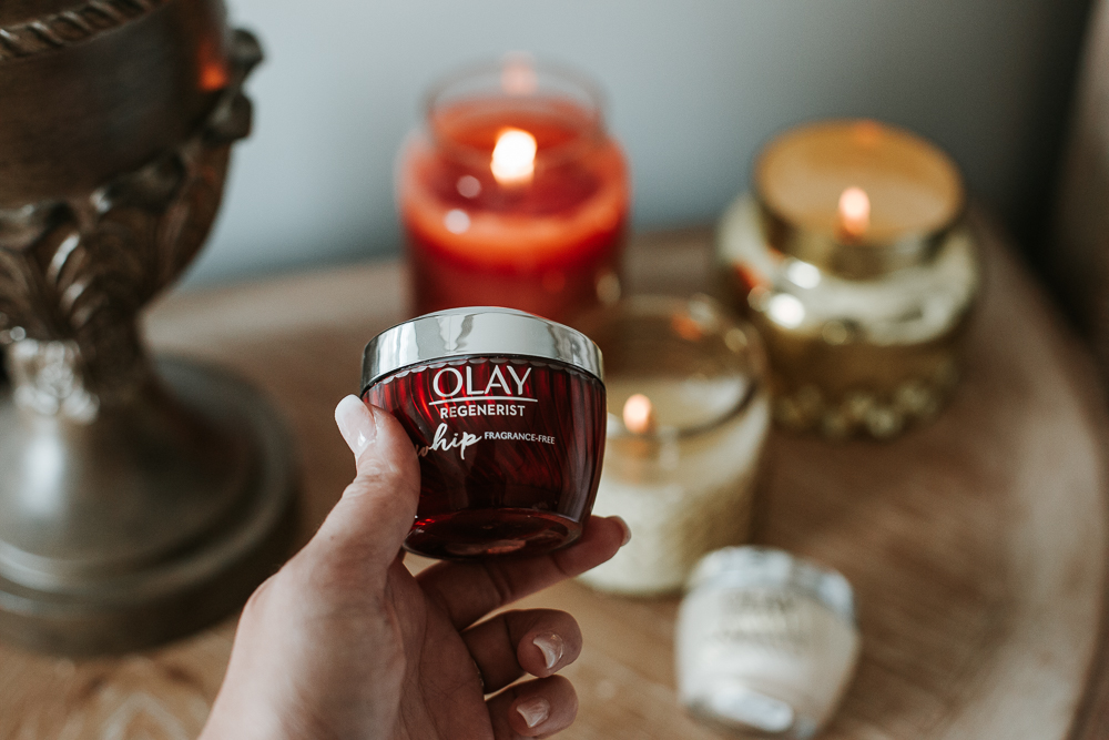 regenerist fragrance free review, beauty blogger, skincare review, xo samantha brooke, life and messy hair, lifestyle blogger, nc blogger, olay review