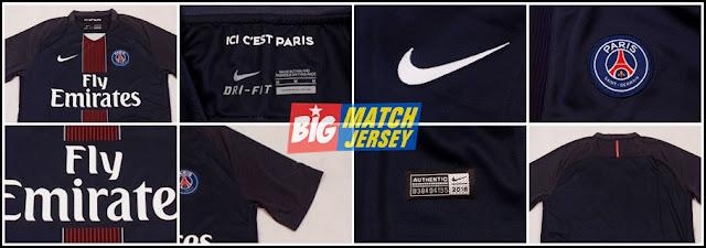 Detail Jersey Grade Ori Paris Saint Germain Home 2016-2017
