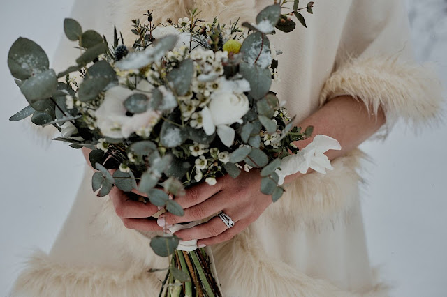 Mariage d'hiver, mariage montagne, winter wedding, rock my world photography, bridesbouquet