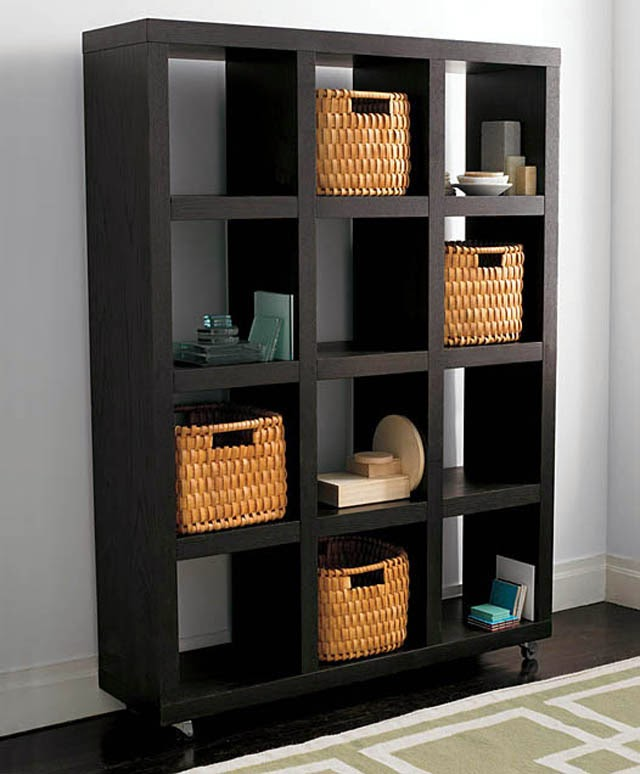 Black Office Bookshelf