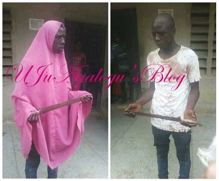 Lone Male ARMED ROBBER in Hijab NABBED ...See Photos