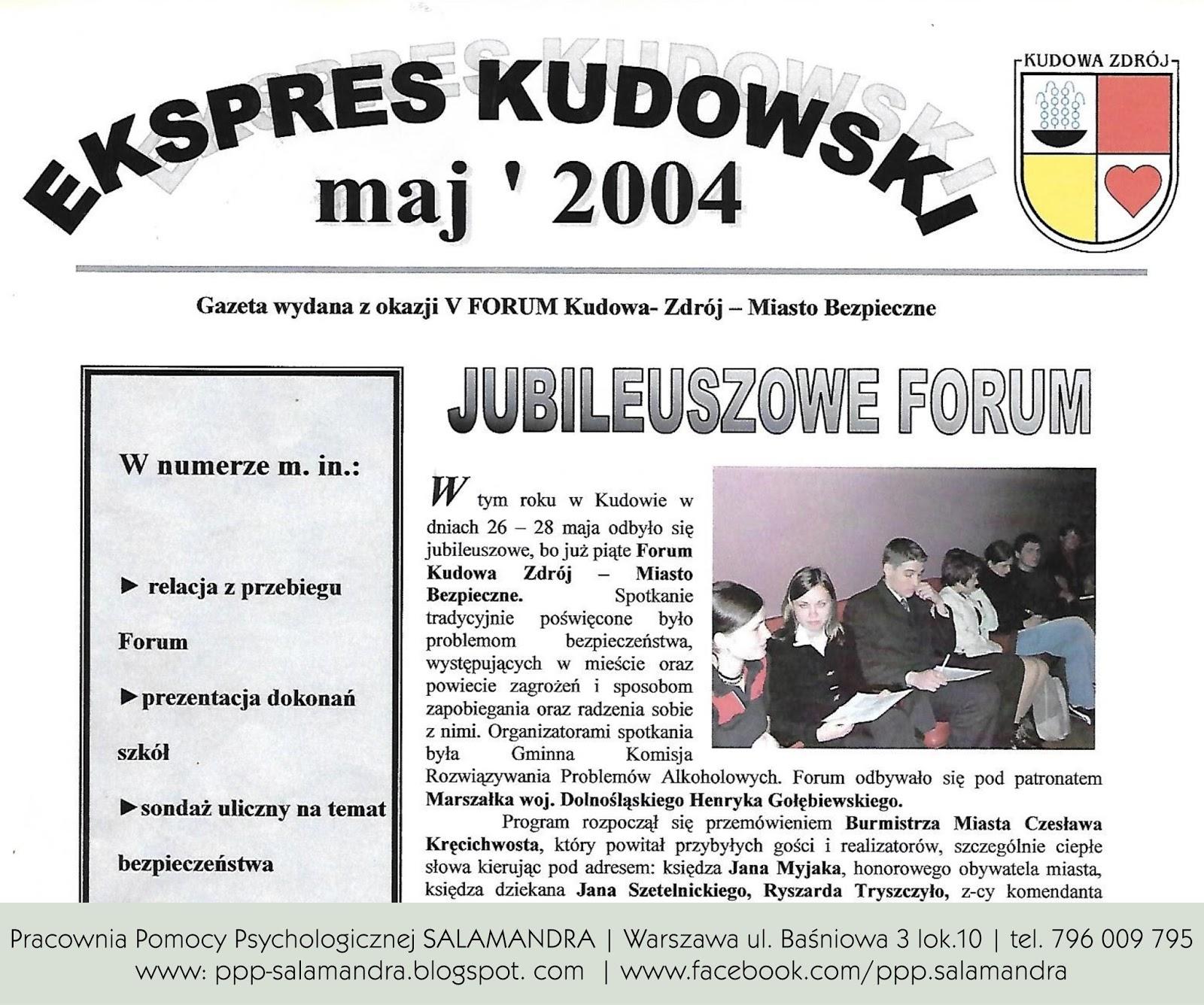 Dobry psycholog Warszawa na Forum Kudowa