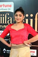 Samyukta Hamod in Red Crop top Brown Skirt at IIFA Utsavam Awards 008.JPG