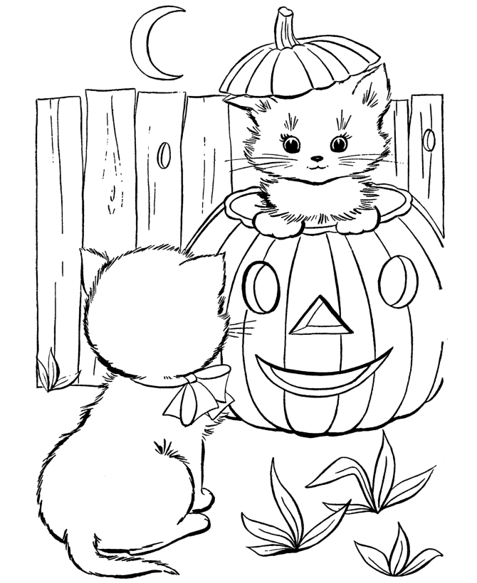 kawaii halloween coloring pages - photo#14