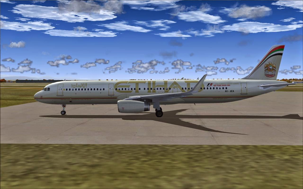 FS2004 REPAINTS: PROJECT AIRBUS A321-200SL Etihad Airways A6-AEA