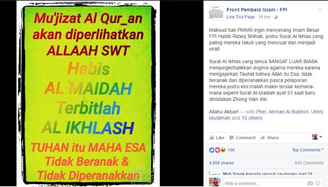 Pelaporan Berbuntut Hidayah! PMKRI Melaporkan Imam Besar FPI, Surat Al-Ikhlas Yang Paling Mereka Takuti Justru Menjadi Viral