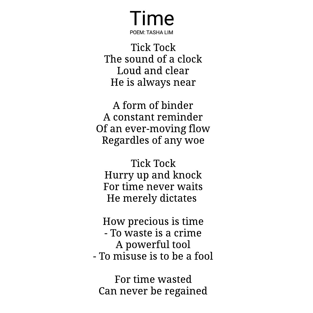 poetry and time Time quotes and quotations all that really belongs to us is time even he who has nothing else has that baltasar gracian time is an illusion lunchtime doubly so.