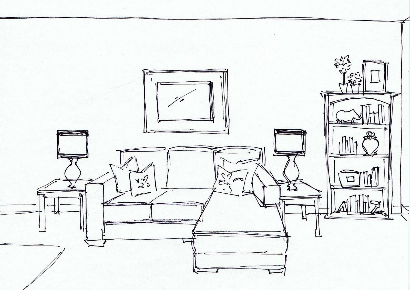 Numbered street designs online living room design board for Living room interior sketch