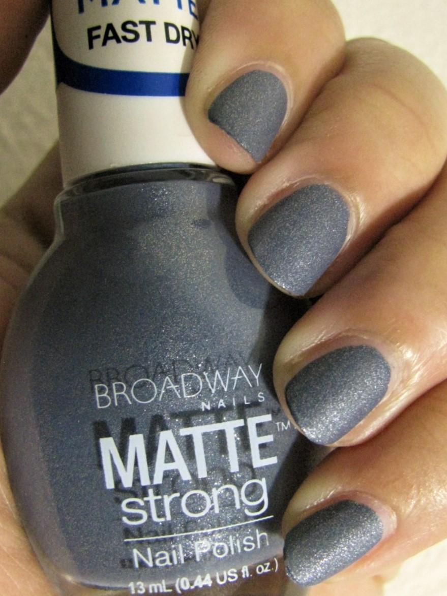 The Super Secret Nail Blog: Broadway Nails Matte Strong Review