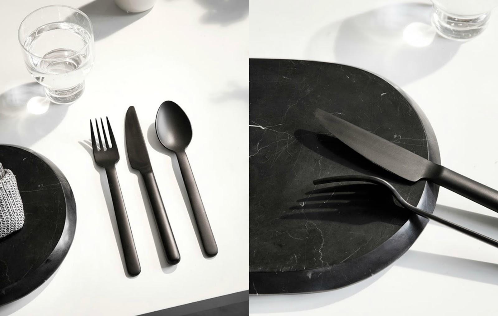 Nowatorski Design Czarne Sztućce