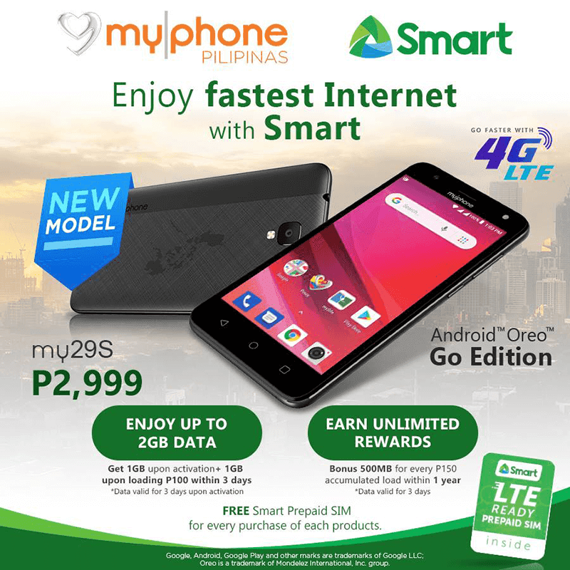 MyPhone my29S announced, a 700MHz 4G LTE smartphone for PHP 2,999