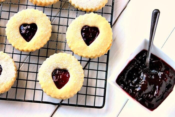 Jam Heart Shortbread Biscuits