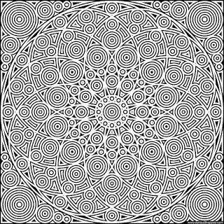 Circles coloring page in jpg and transparent png formats #mandala #coloring #PiDay