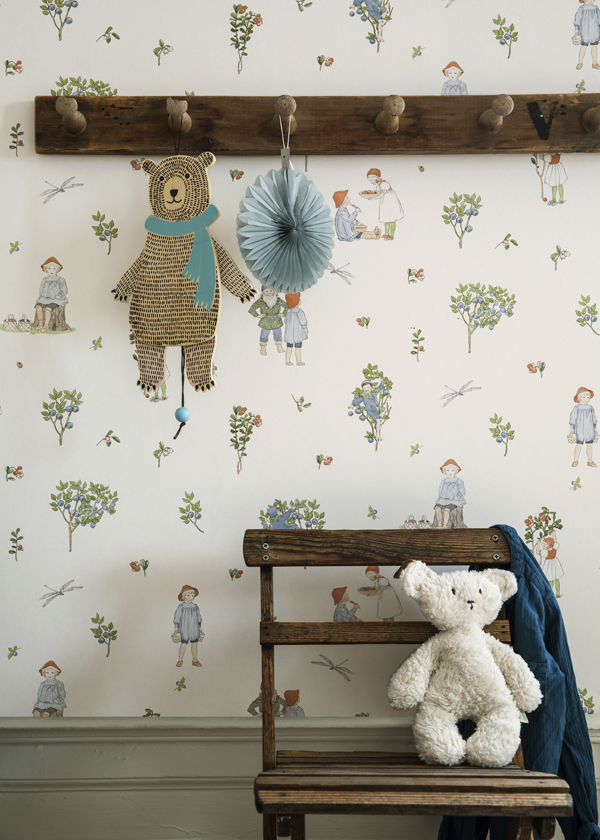 Beautiful Wallpaper for the Kid's Room, Boråstapeter, via Scandinavian Love Song