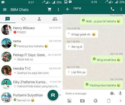 BBM Whatsapp chat