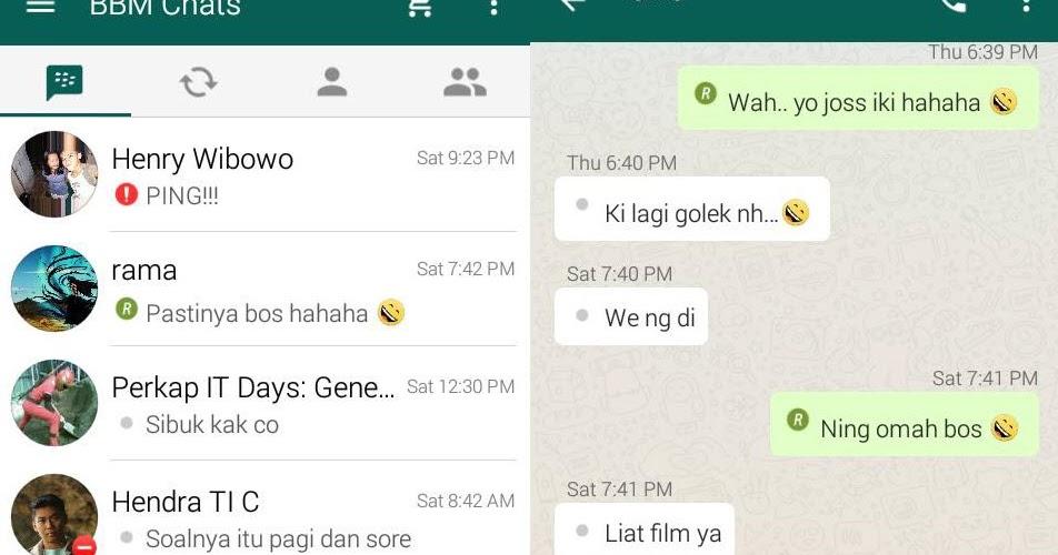 BBM Mod Tema Whatsapp V3.3.6.51 Apk Terbaru