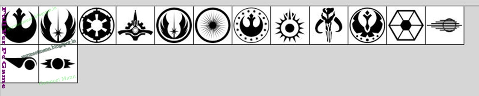 Copy Paste Star Wars
