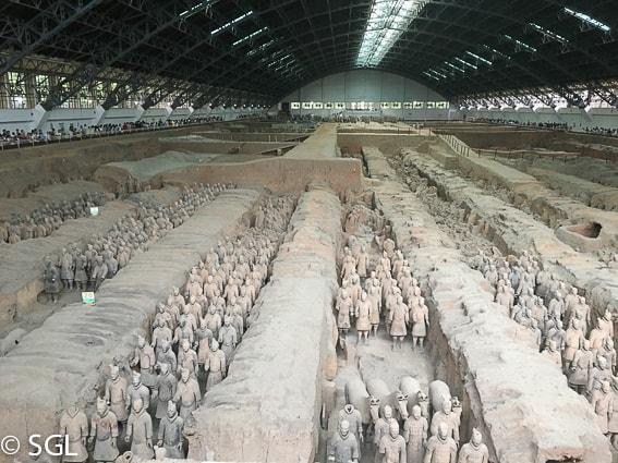 Los soldados de Xian. Visitando Xian