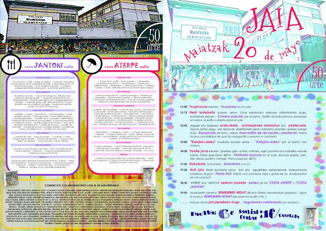 Cartel de la fiesta de 50 aniversario del colegio Rontegi