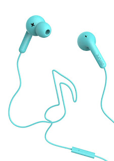 Defunc Go Music Earphone With Mic Reduces Ambient Noise For True Music Lovers (Cyan)
