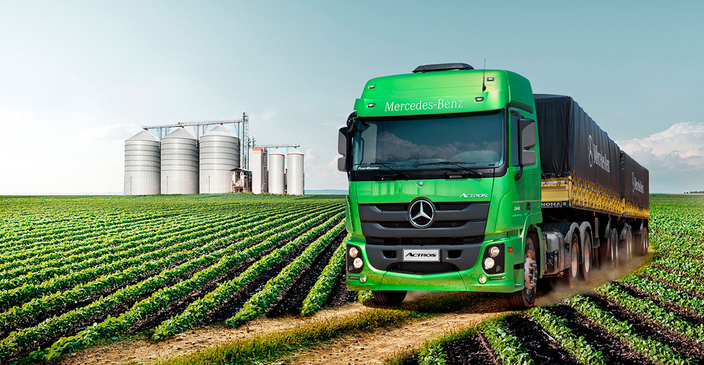 Coisas de agora actros mercedes benz refer ncia nas for Mercedes benz marketing mix